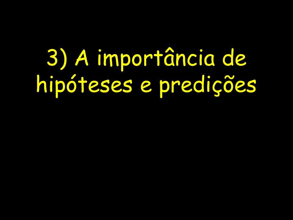3) A importância de hipóteses e predições