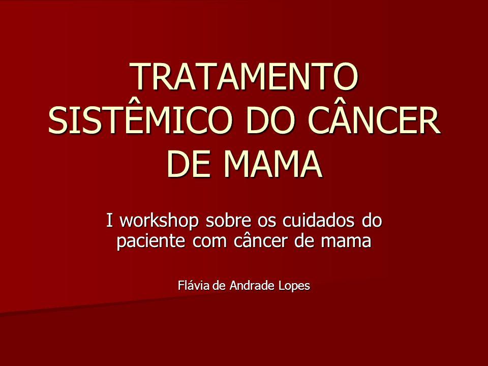 TRATAMENTO SISTÊMICO DO CÂNCER DE MAMA I workshop sobre os cuidados do paciente com câncer de mama Flávia de Andrade Lopes
