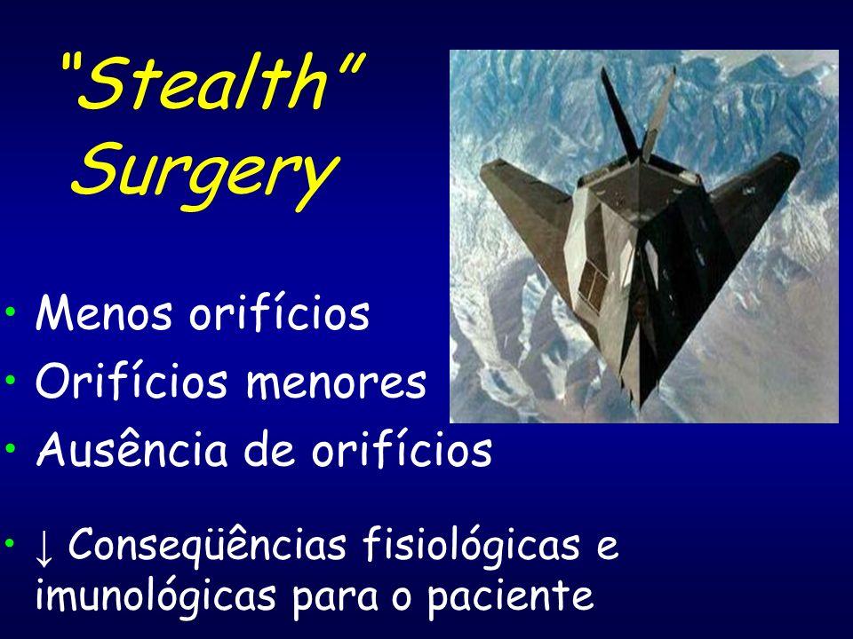 Stealth Surgery Menos orifícios Orifícios menores Ausência de orifícios Conseqüências fisiológicas e imunológicas para o paciente