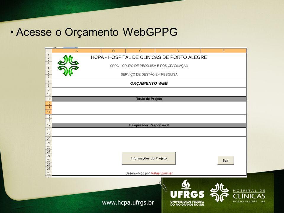 Acesse o Orçamento WebGPPG