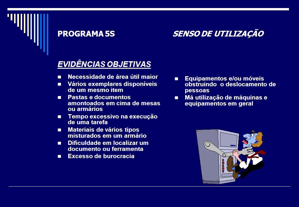 PROGRAMA 5S SENSO DE AUTODISCIPLINA Desenvolver o hábito de cumprir rigorosamente os compromissos assumidos.