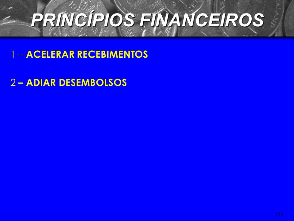 132 TÉCNICAS DE ADMINISTRAÇÃO DE CAIXA – FLOAT São fundos enviados por um devedor e que ainda não estão à disposição do credor. * FLOAT DE COBRANÇA Te
