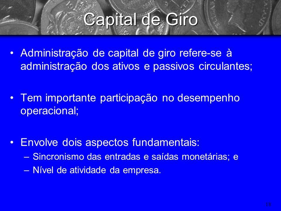 17 Capital de Giro Capital de giro Capital de giro
