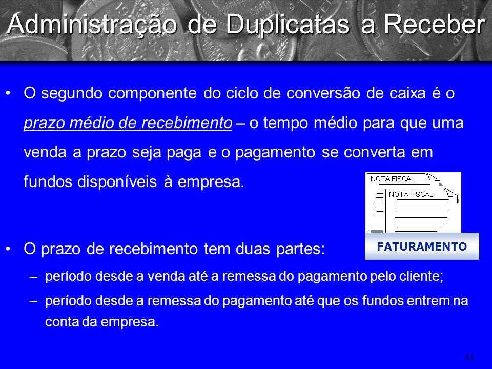 40 Administração de Duplicatas a Receber