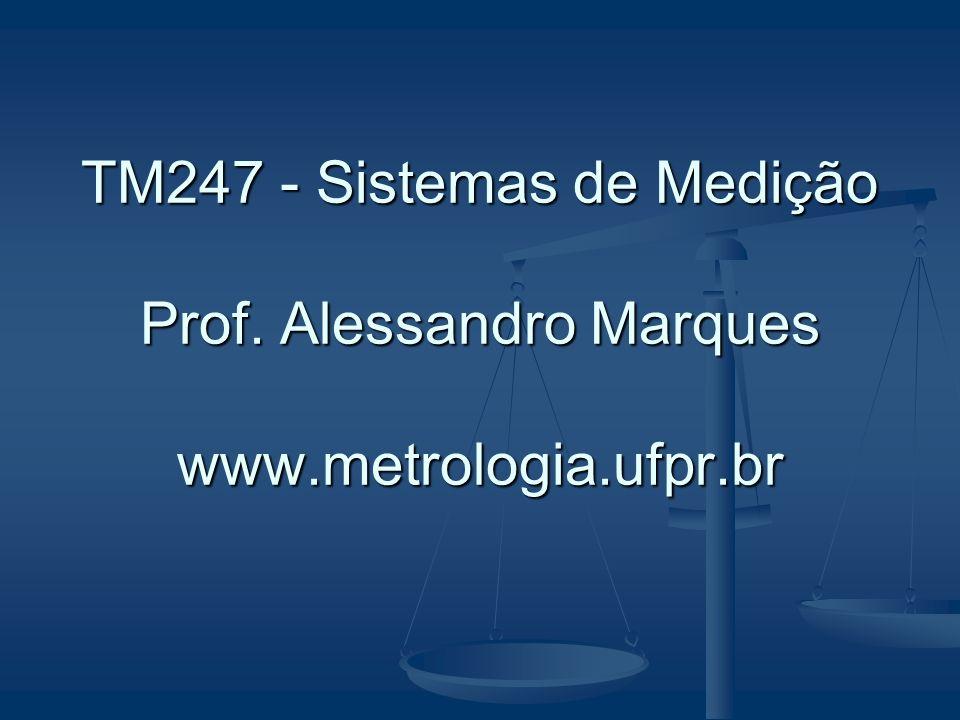 TM247 - Sistemas de Medição Prof. Alessandro Marques www.metrologia.ufpr.br