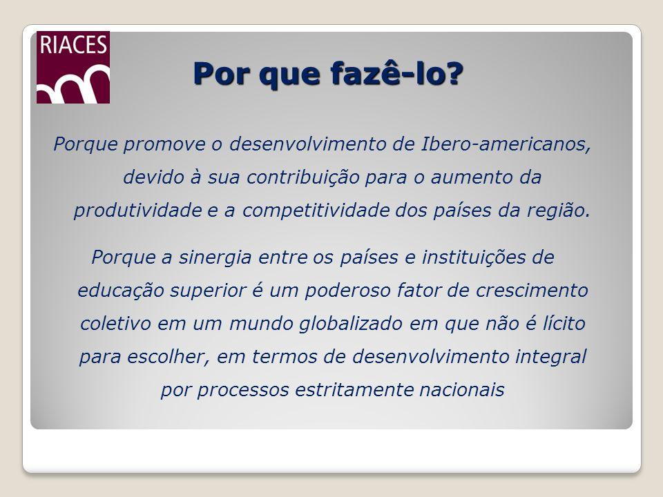 Por que fazê-lo? Porque promove o desenvolvimento de Ibero-americanos, devido à sua contribuição para o aumento da produtividade e a competitividade d