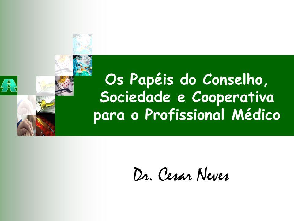 Dr. Cesar Neves Os Papéis do Conselho, Sociedade e Cooperativa para o Profissional Médico