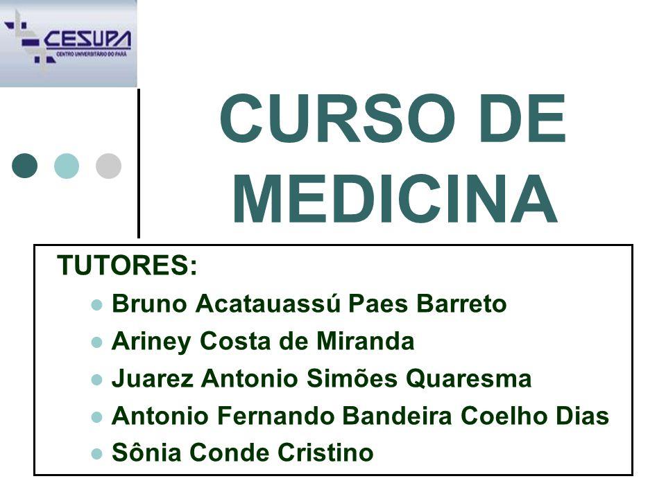 CURSO DE MEDICINA TUTORES: Bruno Acatauassú Paes Barreto Ariney Costa de Miranda Juarez Antonio Simões Quaresma Antonio Fernando Bandeira Coelho Dias