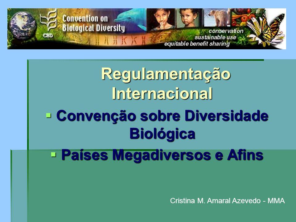 Regulamentação Internacional Regulamentação Internacional Convenção sobre Diversidade Biológica Convenção sobre Diversidade Biológica Países Megadiver