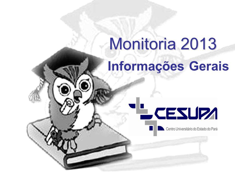 Monitoria 2013 Informações Gerais