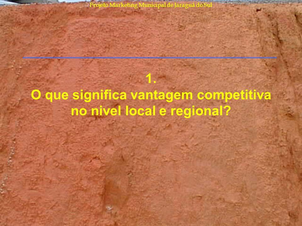 Projeto Marketing Municipal de Jaraguá do Sul 1. O que significa vantagem competitiva no nivel local e regional?
