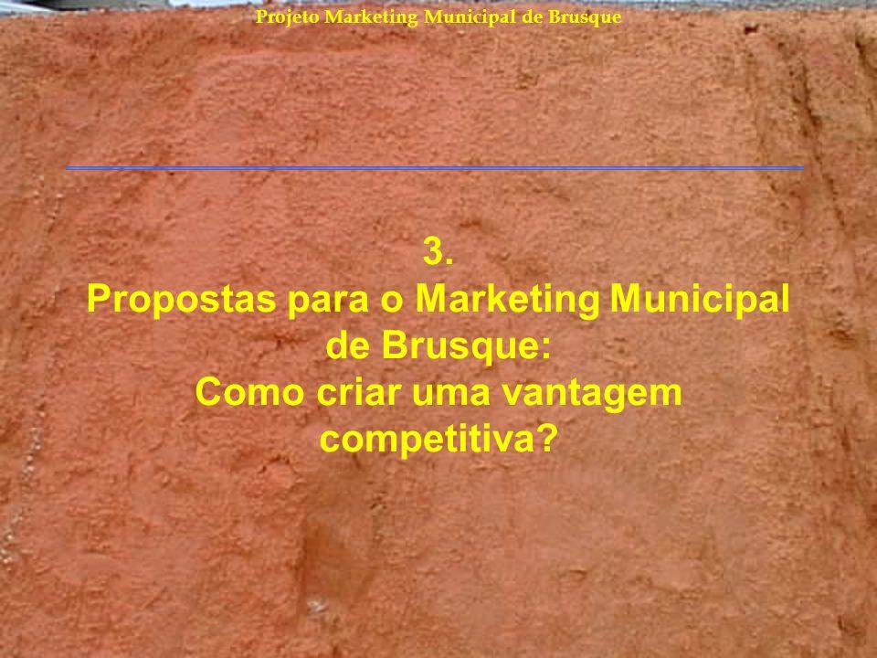 Projeto Marketing Municipal de Brusque 3. Propostas para o Marketing Municipal de Brusque: Como criar uma vantagem competitiva?