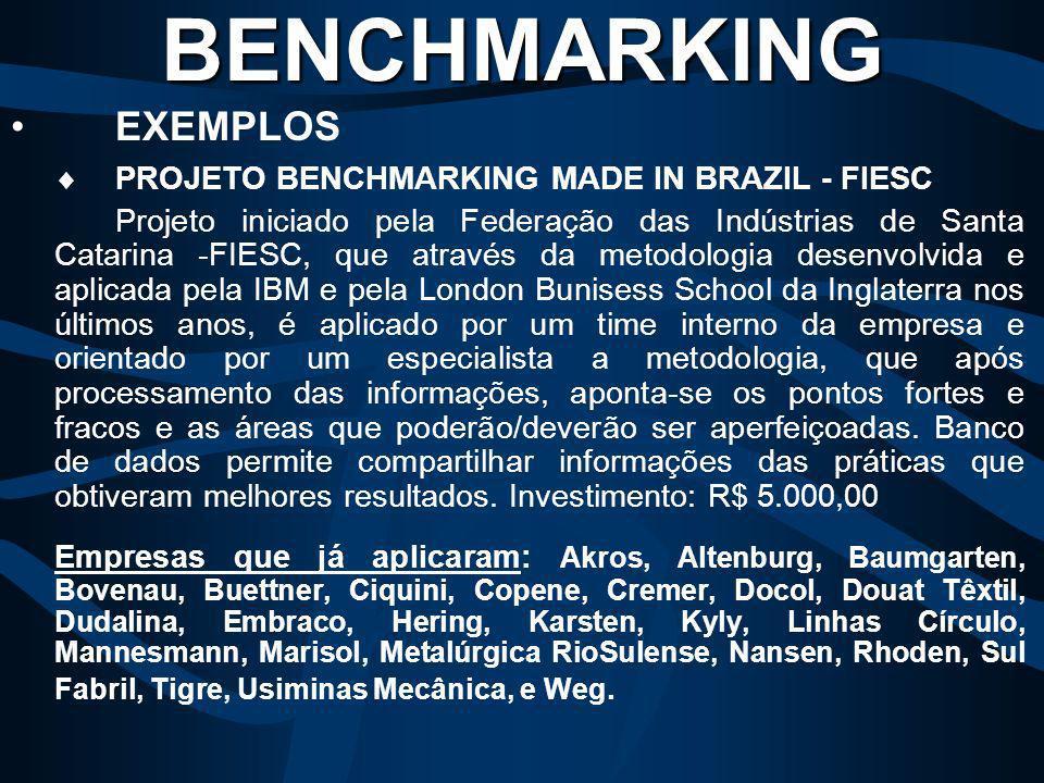 XEROX THE DOCUMENT COMPANY = Em 1979 deu início ao processo denominado Benchmarking para combater a concorrência. O trabalho foi análise das copiadora