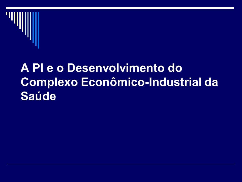 A PI e o Desenvolvimento do Complexo Econômico-Industrial da Saúde