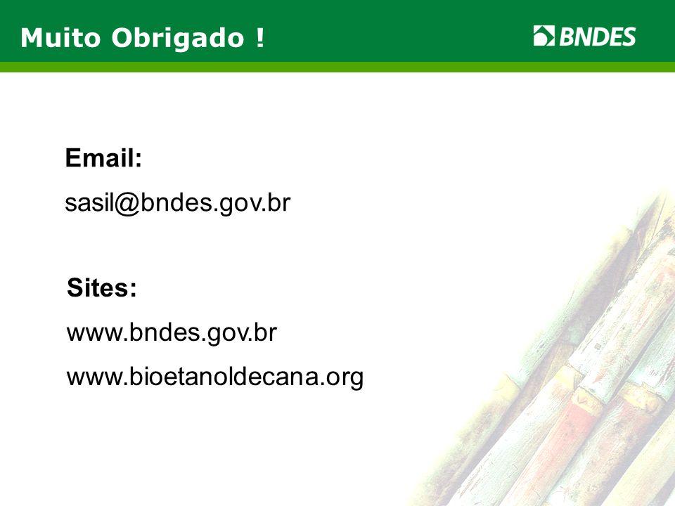 LIVRO VERDE DO ETANOL 16 LIVRO VERDE DO ETANOL Muito Obrigado ! Sites: www.bndes.gov.br www.bioetanoldecana.org Email: sasil@bndes.gov.br