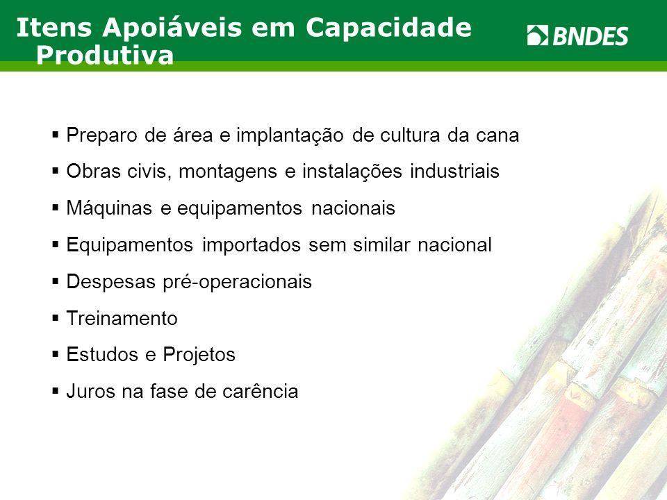 LIVRO VERDE DO ETANOL 5 Preparo de área e implantação de cultura da cana Obras civis, montagens e instalações industriais Máquinas e equipamentos naci