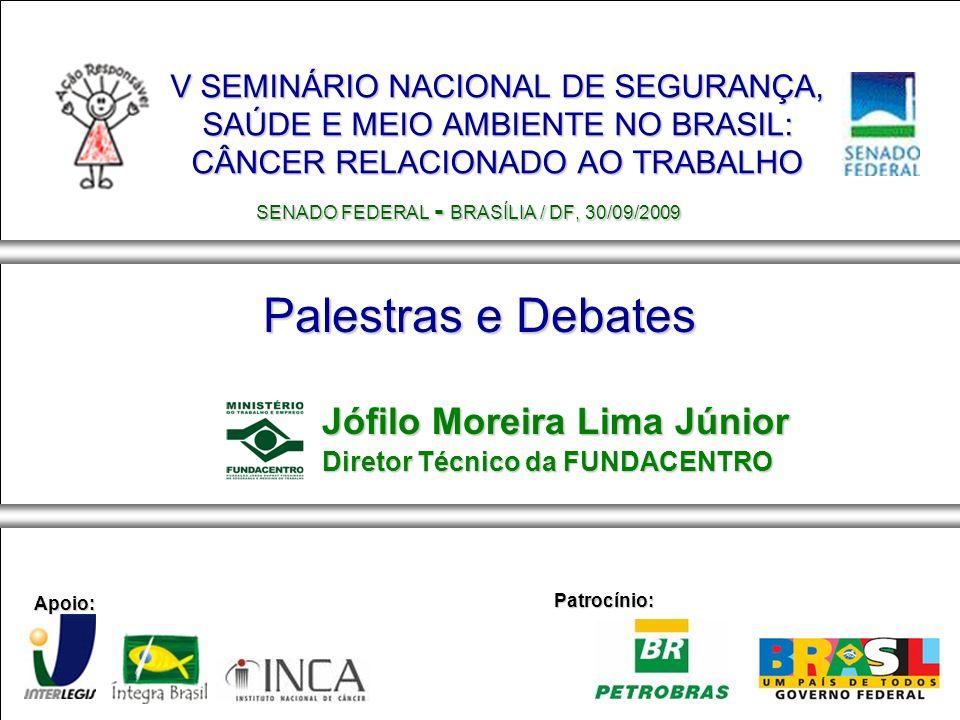 V SEMINÁRIO NACIONAL DE SEGURANÇA, SAÚDE E MEIO AMBIENTE NO BRASIL: CÂNCER RELACIONADO AO TRABALHO SENADO FEDERAL - BRASÍLIA / DF, 30/09/2009