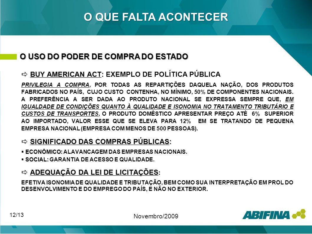BUY AMERICAN ACT: BUY AMERICAN ACT: EXEMPLO DE POLÍTICA PÚBLICA PRIVILEGIA A COMPRA, POR TODAS AS REPARTIÇÕES DAQUELA NAÇÃO, DOS PRODUTOS FABRICADOS N