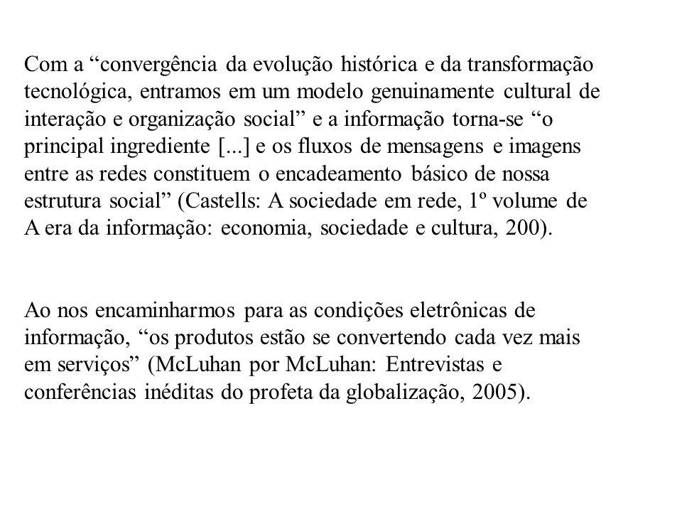 Com a convergência da evolução histórica e da transformação tecnológica, entramos em um modelo genuinamente cultural de interação e organização social