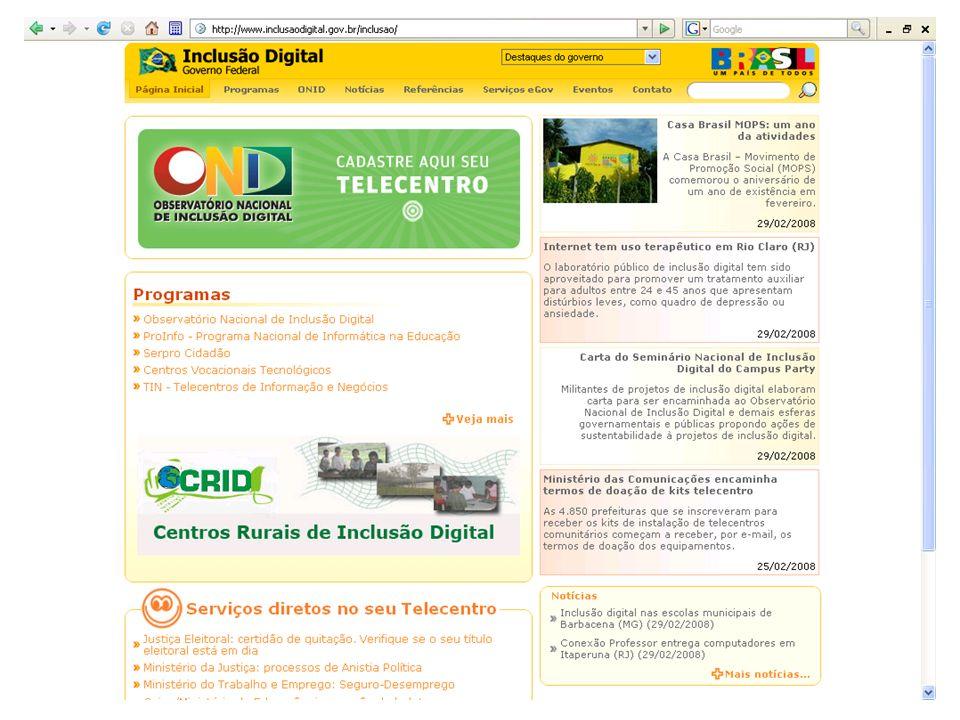 Internet - produção estruturada socialmente Produtores/ usuários Consumidores/ Usuários Código Cultura da Internet = Cultura dos criadores da internet