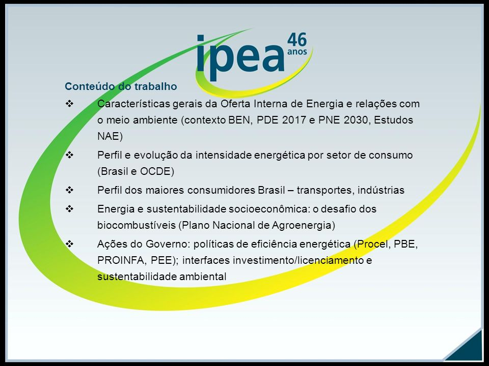 Oferta Interna de Energia Brasil 1940-2008 Fonte: BEN 2008. Gráf. 1, p. 2