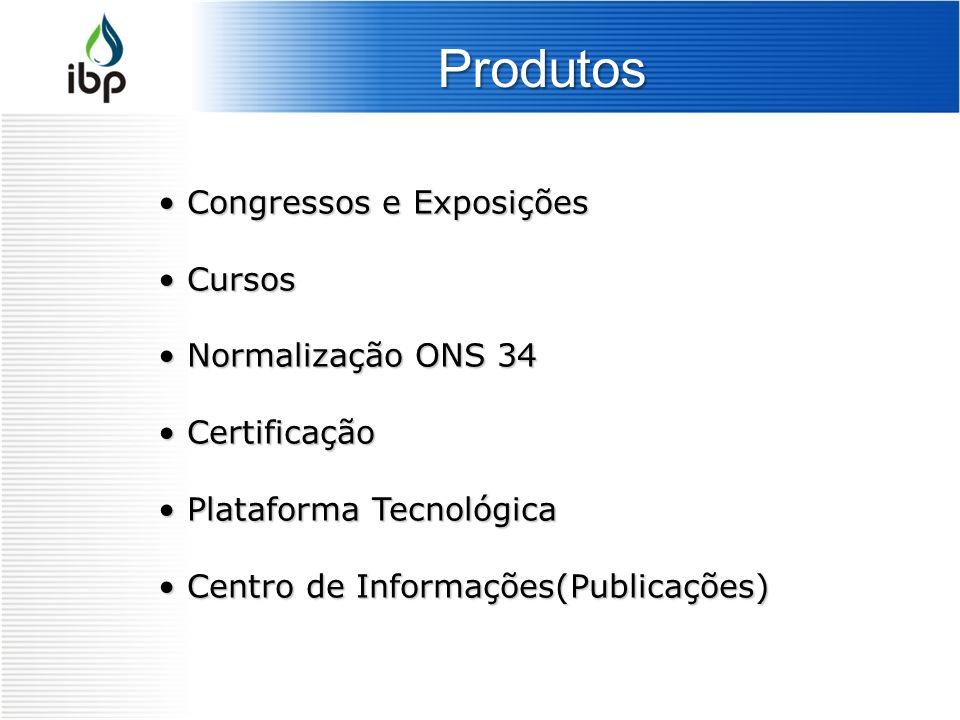 Produtos Congressos e Exposições Congressos e Exposições Cursos Cursos Normalização ONS 34 Normalização ONS 34 Certificação Certificação Plataforma Te
