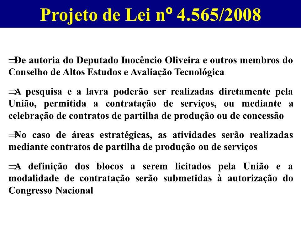 Projeto de Lei n º 4.565/2008 De autoria do Deputado Inocêncio Oliveira e outros membros do Conselho de Altos Estudos e Avaliação Tecnológica A pesqui