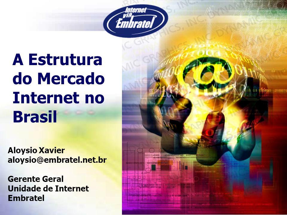 Objetivo da Palestra A Internet no Brasil vai muito bem, obrigado.