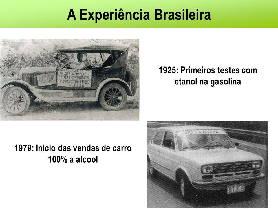 Próximo: Os dias atuais: Carro Flex-Fuel Permite o uso de qualquer mistura de álcool hidratado e Gasolina com álcool anidro (0 a 100%) Até junho de 2009: os flex-fuel representaram 88% do total de 1,39 milhões de automóveis e comerciais leves licenciados no país (incluindo os importados) Total de veículos flex-fuel licenciados (01/2003-06/2009): 8,1 milhões de unidades Montadoras de carros flex–fuel no Brasil: