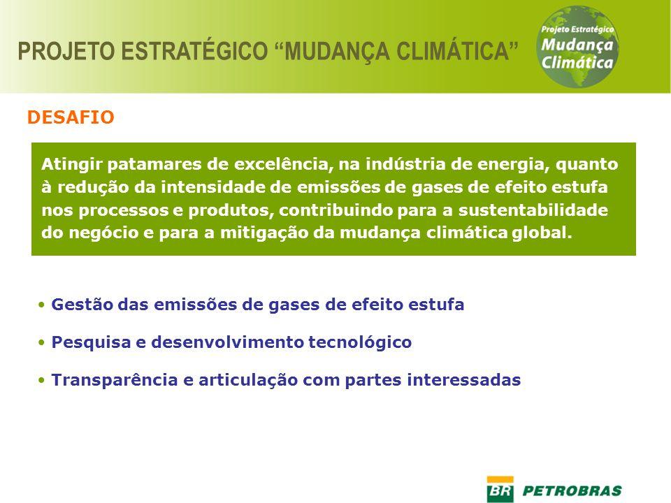 Atingir patamares de excelência, na indústria de energia, quanto à redução da intensidade de emissões de gases de efeito estufa nos processos e produt