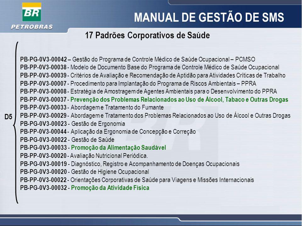 19 PB-PG-0V3-00042 – Gestão do Programa de Controle Médico de Saúde Ocupacional – PCMSO PB-PP-0V3-00038 - Modelo de Documento Base do Programa de Cont