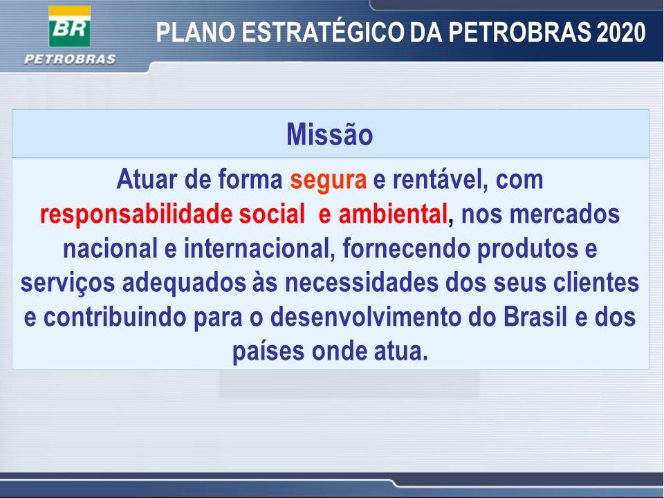 2 2 Missão Atuar de forma segura e rentável, com responsabilidade social e ambiental, nos mercados nacional e internacional, fornecendo produtos e ser