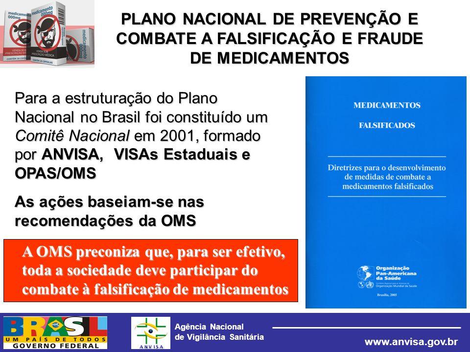 Agência Nacional de Vigilância Sanitária www.anvisa.gov.br Para a estruturação do Plano Nacional no Brasil foi constituído um Comitê Nacional em 2001,