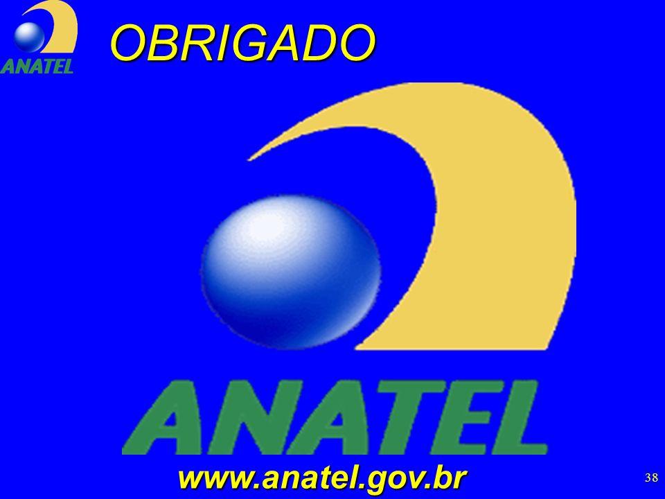 38OBRIGADO www.anatel.gov.br www.anatel.gov.br
