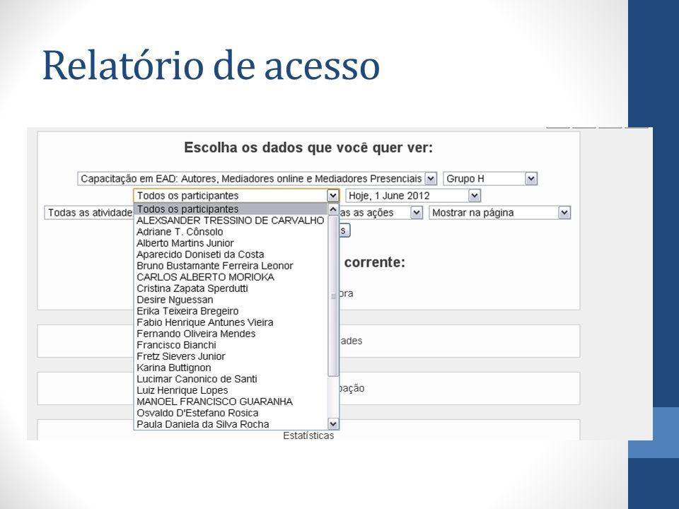 Relatório de acesso