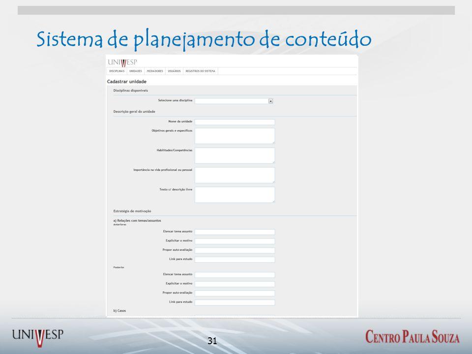 Sistema de planejamento de conteúdo 31