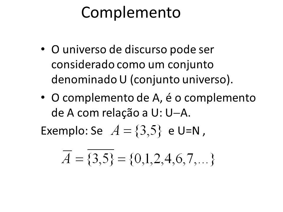 Venn Diagram – AB é o que sobra depois que B morde um pedaço de A Conj. A B Diferença entre conjuntos B