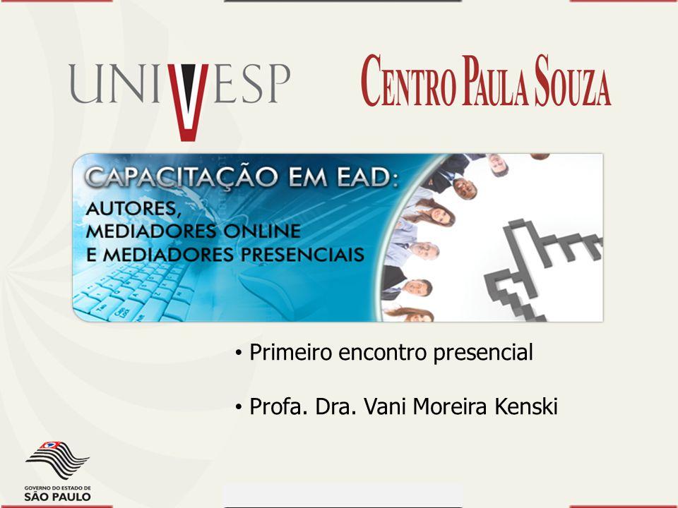 Prof. Dr. Dilermando Piva - CEETEPS Prof. Dr. Waldomiro Loyolla - SES Módulo 1 Primeiro encontro presencial Profa. Dra. Vani Moreira Kenski Capacitaçã