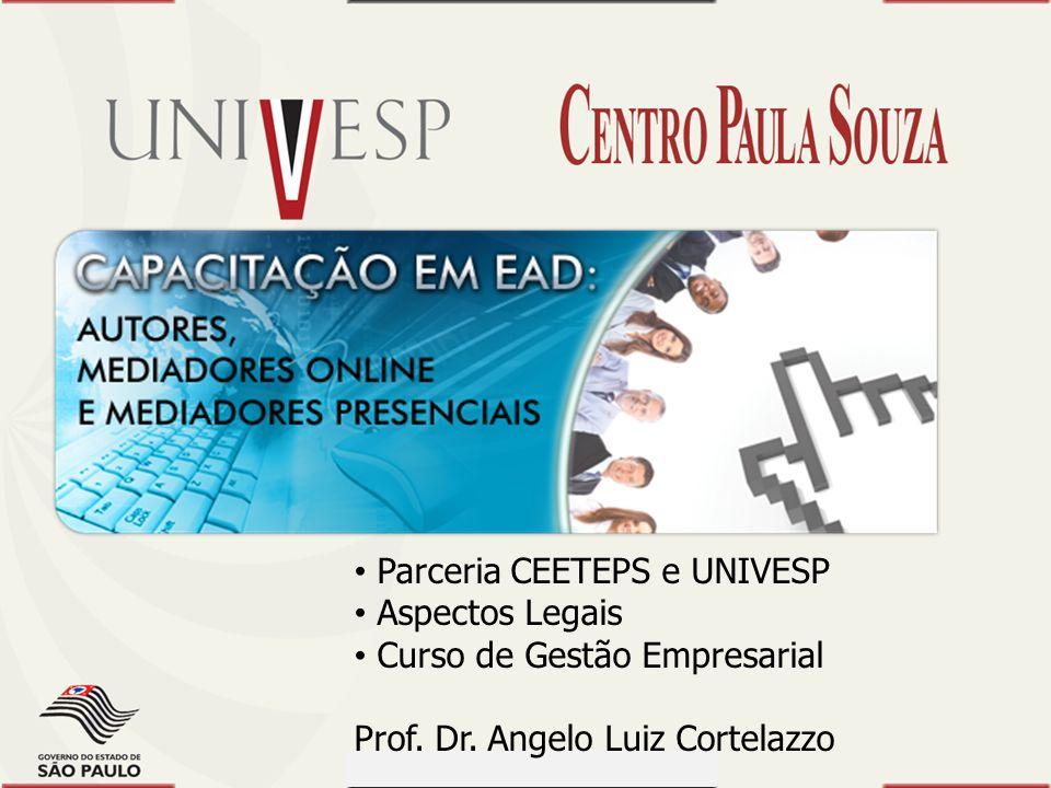 Prof. Dr. Dilermando Piva - CEETEPS Prof. Dr. Waldomiro Loyolla - SES Módulo 1 Parceria CEETEPS e UNIVESP Aspectos Legais Curso de Gestão Empresarial