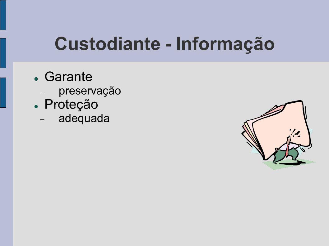 Custodiante - Informação Garante preservação Proteção adequada