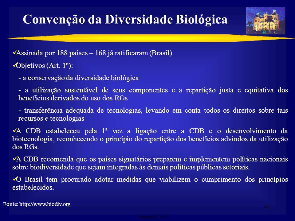 41 Propriedade Intelectual e Biodiversidade Oportunidade para o Desenvolvimento Sustentável: Vincular o uso da biodiversidade com a inovação tecnológi
