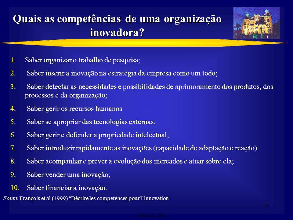 77 Mudanças no ambiente organizacional organizacional Conhecimento crescente Crescente complexidade Crescente turbulência Tecnologia da informação mai