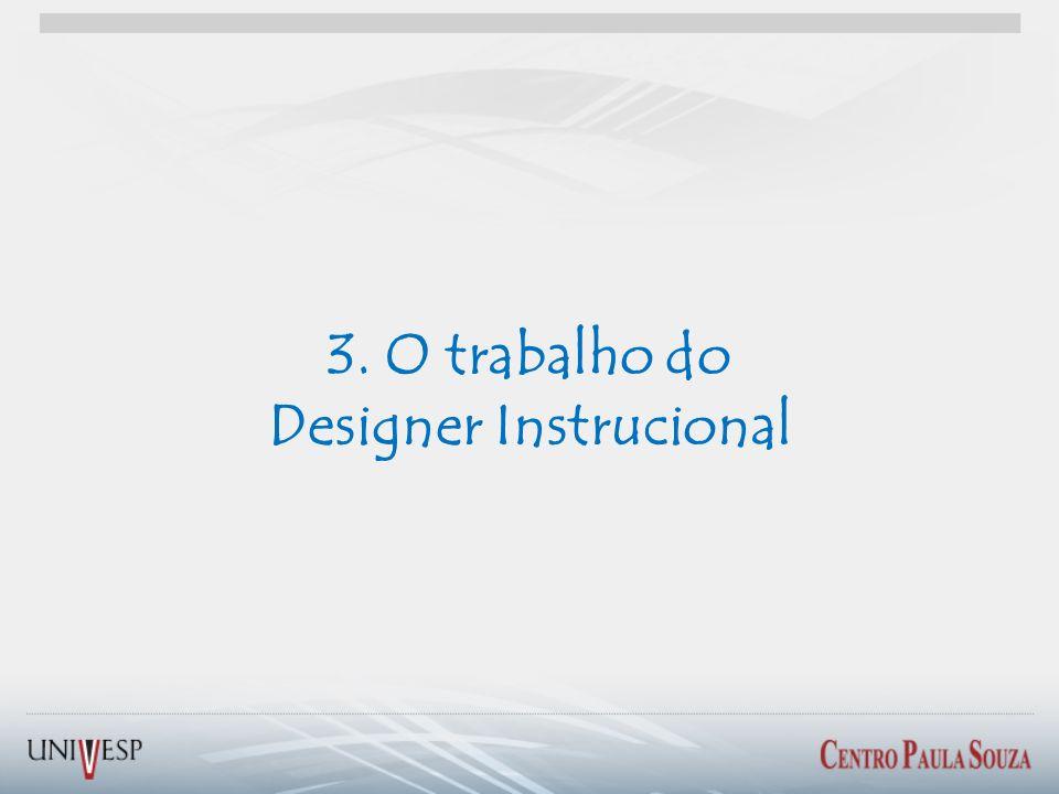 3. O trabalho do Designer Instrucional