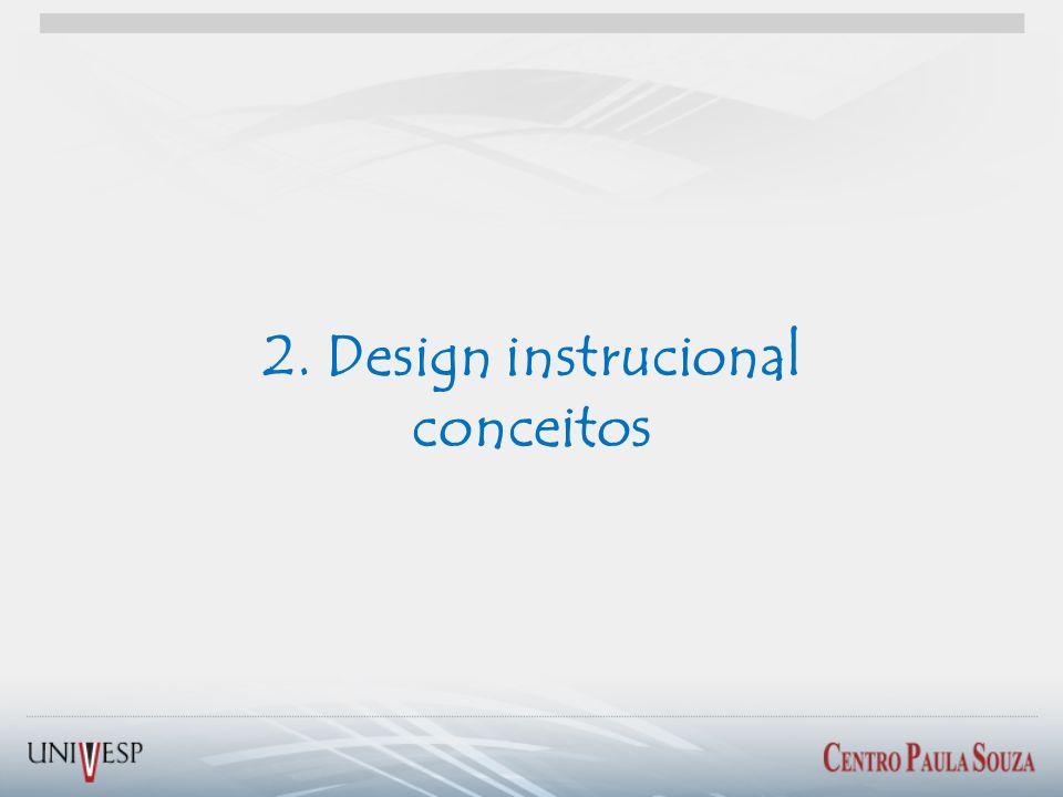 2. Design instrucional conceitos