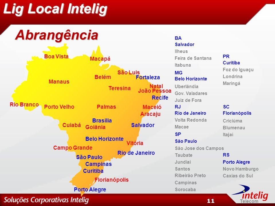 Telecom 11 Campo Grande Cuiabá Goiânia João Pessoa Macapá Maceió Manaus Natal PalmasPorto Velho Rio Branco São Luis São Paulo Rio de Janeiro Salvador