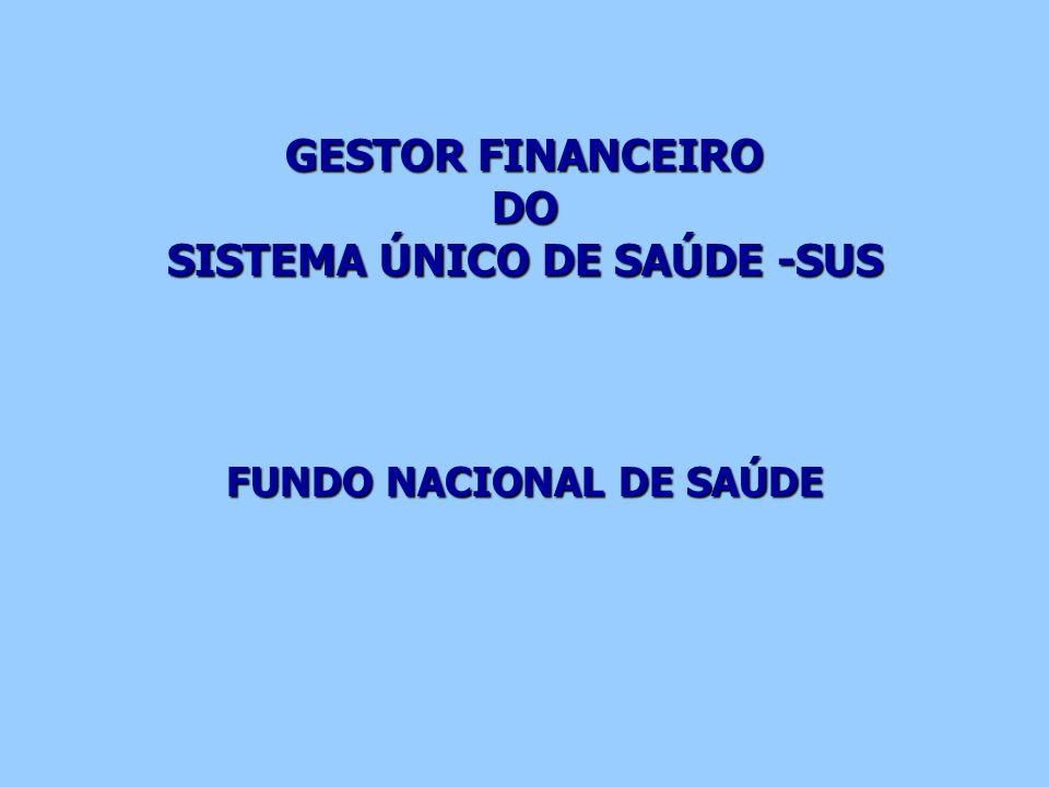 GESTOR FINANCEIRO DO SISTEMA ÚNICO DE SAÚDE -SUS FUNDO NACIONAL DE SAÚDE