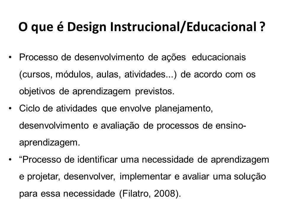 O que é Design Instrucional/Educacional .