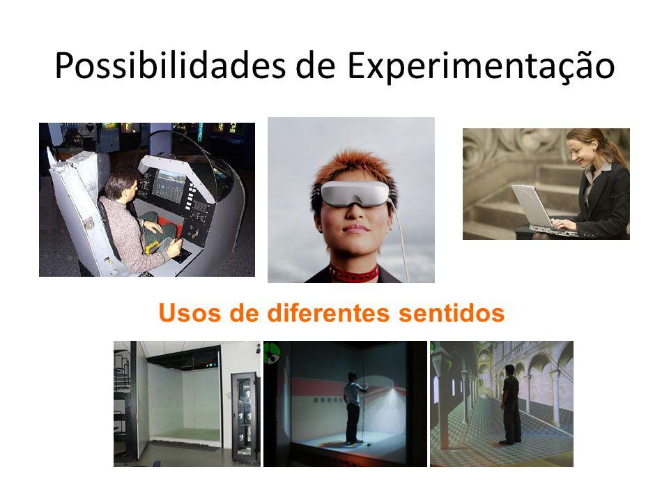 Possibilidades de Experimentação Usos de diferentes sentidos