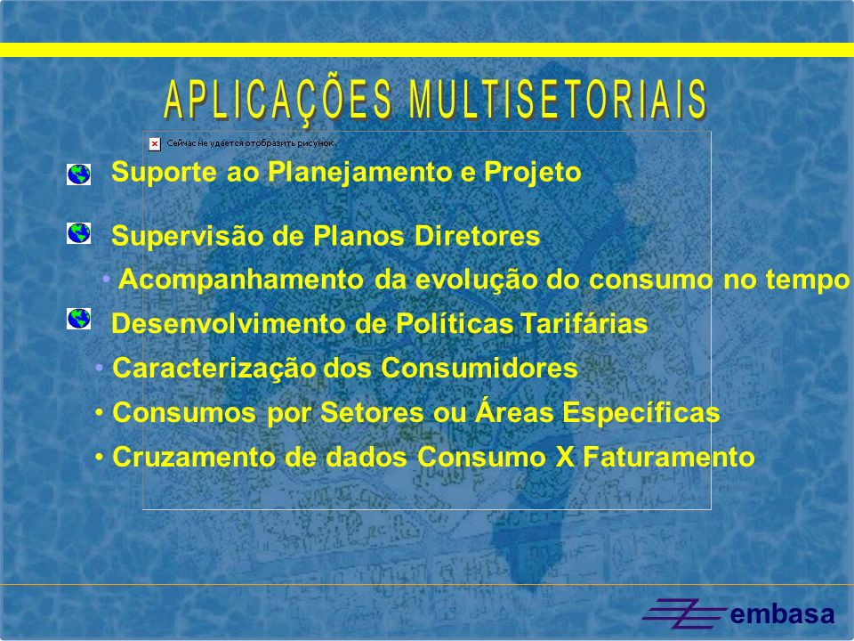embasa ABRANGÊNCIA DO PROGRAMA MUNICÍPIOS CONTEMPLADOS IMPLANTAÇÃO DE SISTEMA DE ESGOTAMENTO SANITÁRIO IMPLANTAÇÃO DE ATERRO SANITÁRIO IMPLANTAÇÃO DE SISTEMA DE ABASTECIMENTO DE ÁGUA M M MP M - Projeto Metropolitano P - PMSS M M M M M M