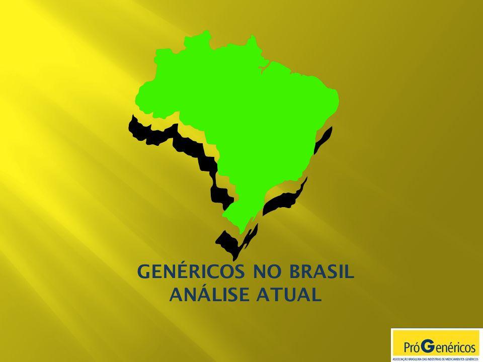 Fonte: IMS Health Os Genéricos tem maior participação em mercados onde existe efetiva participação do governo através de políticas de reembolso.